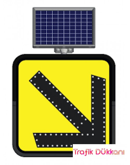 SAĞDAN GİDİNİZ ( FLAŞÖRLÜ ) - SOLAR LED`Lİ FLAŞÖR LAMBA(30x30cm) - 11862 FL S