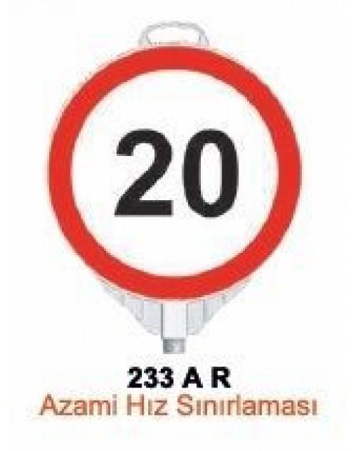 AZAMİ HIZ SINIRLAMASI -AZAMİ HIZ TABELASI ( TEK TARAFLI ) - YUVARLAK UYARI LEVHASI - TD2513