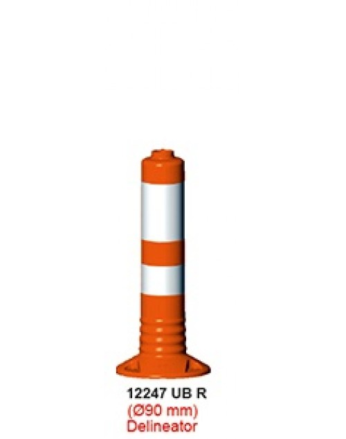 DELİNATOR (Q90 MM ) - ŞERİT AYIRICI ESNEK DELİNATÖR (Soketli)(50cm) -TD2374