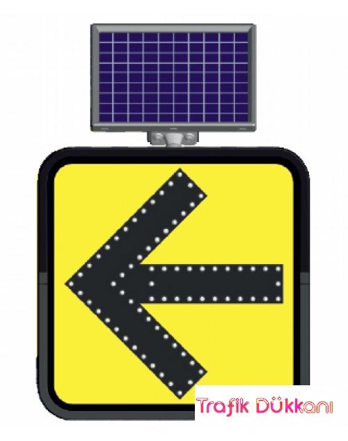 DUR - SOLAR FLAŞÖRLÜ LED`Lİ TRAFİK LEV.(60x60cm)