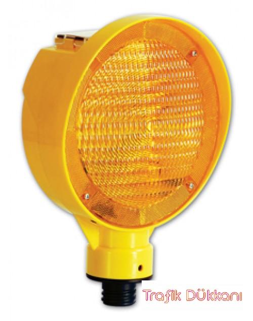 FLAŞÖRLÜ UYARI LAMBASI - SOLAR LED`Lİ FLAŞÖR LAMBA - 11825 FL S