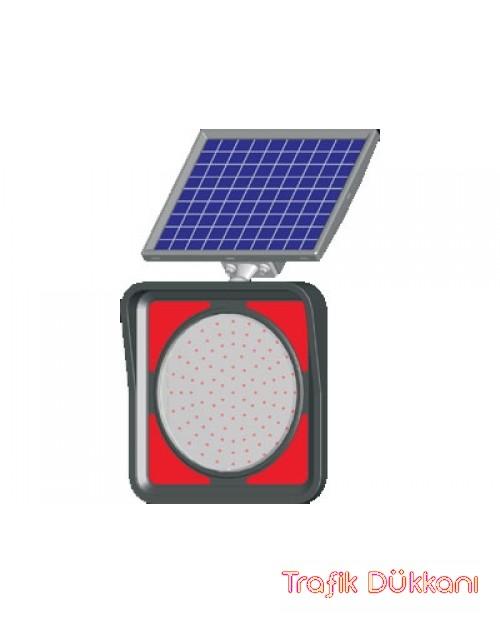 GÜNEŞ ENERJİLİ SOLAR FLAŞÖRLÜ LEDLİ LAMBA Q300 MM - SOLAR LED`Lİ FLAŞÖR LAMBA(Ø300mm) - 11852 FL K