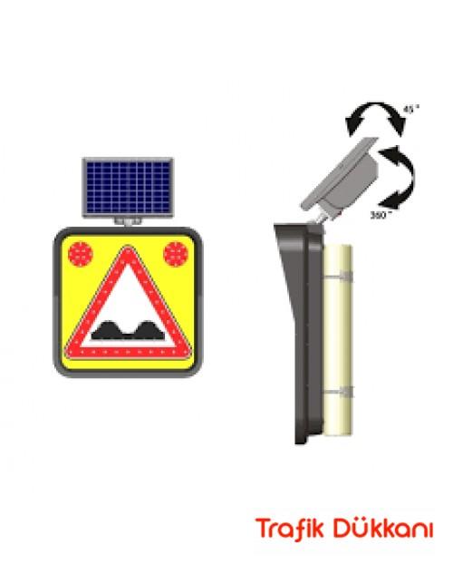 KASİSLİ YOL - SOLAR LED`Lİ YOL BAKIM LEVHASI(60x60cm) - 11842 FL