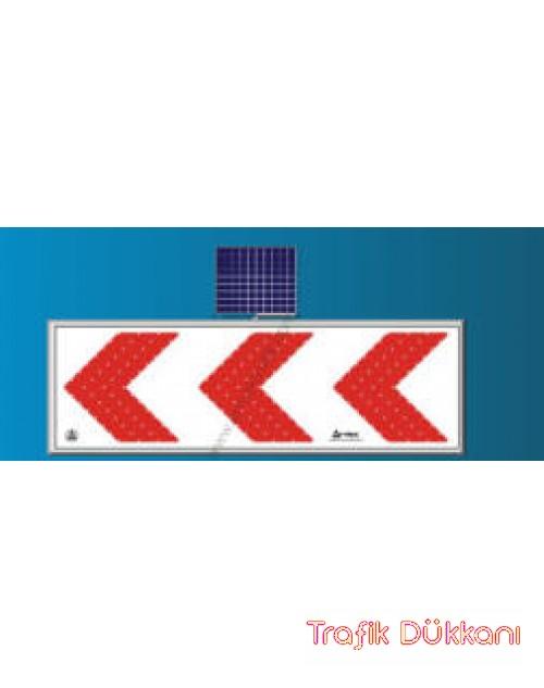 LED`Lİ YOL YAPIM VE ONARIM LEVHALARI - 60X180CM -  SOLAR LED`Lİ YOL BAKIM LEVHASI(50x150cm) - TD2307