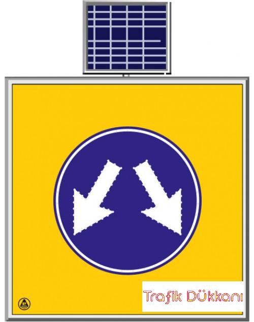 LED`Lİ YOLYAPIM VE ONARIM LEVHALARI - 100X100CM - SOLAR LED`Lİ YOL BAKIM LEVHASI(100x100) - TD2292