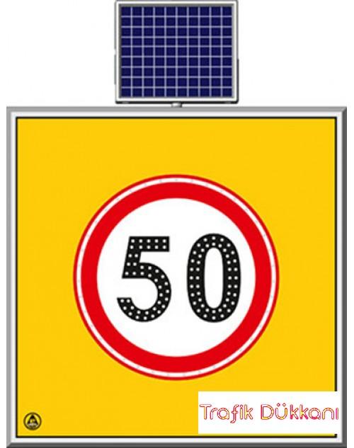 LED`Lİ YOLYAPIM VE ONARIM LEVHALARI - 100X100CM - SOLAR LED`Lİ YOL BAKIM LEVHASI(100x100cm) - TD2287