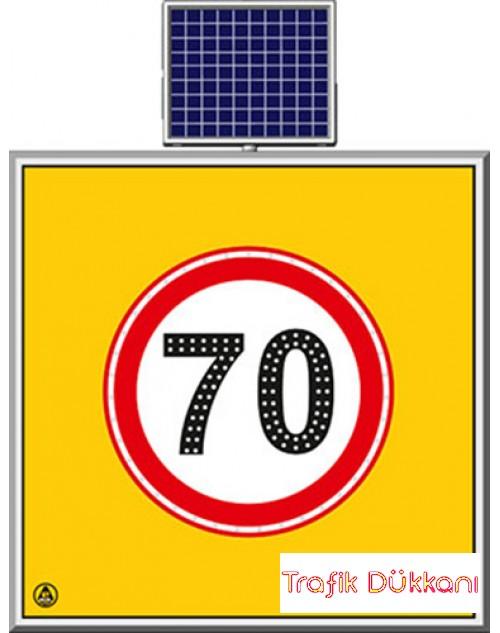 LED`Lİ YOLYAPIM VE ONARIM LEVHALARI - 100X100CM - SOLAR LED`Lİ YOL BAKIM LEVHASI(100x100cm) - TD2288