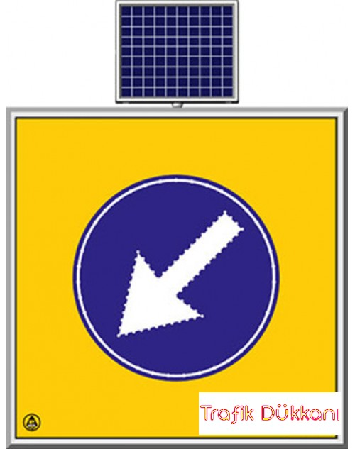 LED`Lİ YOLYAPIM VE ONARIM LEVHALARI - 100X100CM - SOLAR LED`Lİ YOL BAKIM LEVHASI(100x100cm) - TD2290