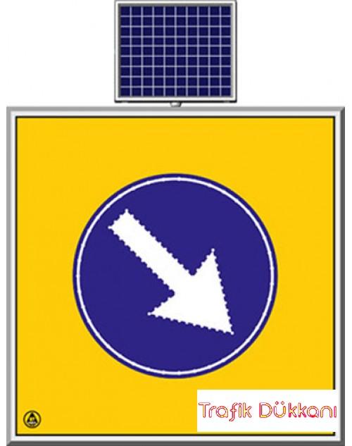 LED`Lİ YOLYAPIM VE ONARIM LEVHALARI - 100X100CM - SOLAR LED`Lİ YOL BAKIM LEVHASI(100x100cm) - TD2291