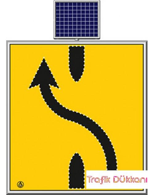 LED`Lİ YOLYAPIM VE ONARIM LEVHALARI - 110X120CM - SOLAR LED`Lİ YOL BAKIM LEVHASI(100x100cm) - TD2302