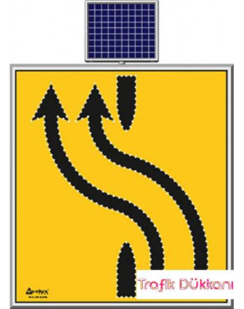 LED`Lİ YOLYAPIM VE ONARIM LEVHALARI - 110X120CM - SOLAR LED`Lİ YOL BAKIM LEVHASI(100x100cm) - TD2304
