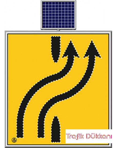 LED`Lİ YOLYAPIM VE ONARIM LEVHALARI - 110X120CM - SOLAR LED`Lİ YOL BAKIM LEVHASI(100x100cm) - TD2305
