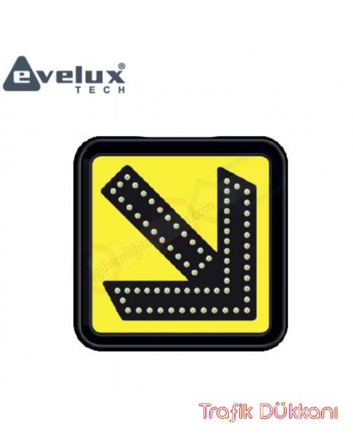 SAĞDAN GİDİNİZ ( FLAŞÖRLÜ ) - AC LED`Lİ LAMBA ve İŞARETLEMESİ(30x30cm) - 11882 FL A