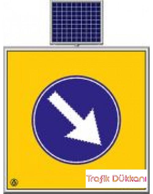 SAĞDAN GİDİNİZ - SOLAR LED`Lİ YOL BAKIM LEVHASI(60x60cm)