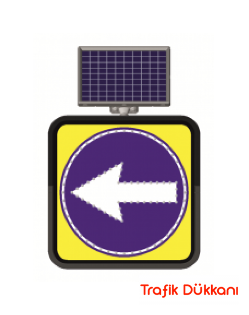 SOLA MECBURİ YÖN - SOLAR LED`Lİ YOL BAKIM LEVHASI(60x60cm)