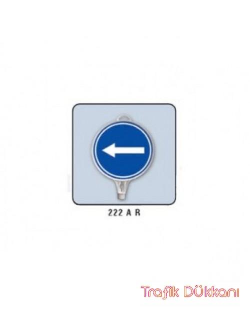 SOLA MECBURİ YÖN - YUVARLAK UYARI LEVHASI (İki Yönlü Uyarı) - TD2507
