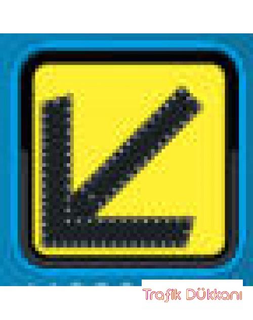 SOLDAN GİDİNİZ - AC LED`Lİ YOL BAKIM LEVHASI(60x60cm) - TD2281