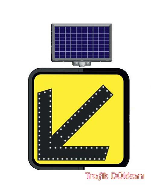 SOLDAN GİDİNİZ - SOLAR LED`Lİ YOL BAKIM LEVHASI(60x60cm)