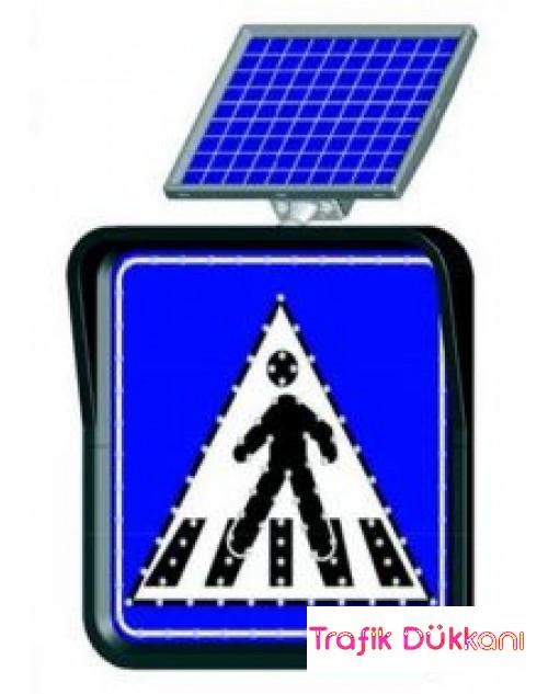 YAYA GEÇİDİ - SOLAR FLAŞÖRLÜ LED`Lİ TRAFİK LEV.(60x60cm)
