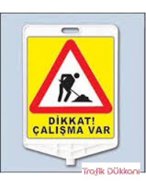 YOLDA ÇALIŞMA -DİKDÖRTGEN UYARI LEVHASI - TD2488