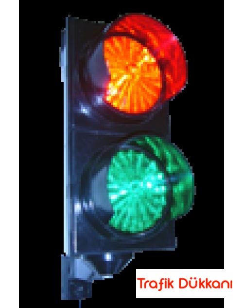 Trafik Lambası - Polikarbon - 12 V - Kırmızı Yeşil Ledli Trafik Lambası
