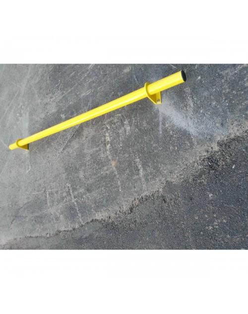 Araç Yaslama Direği - Araç Stoperi - Metal Flanşlı Araç Stoperi - Otopark Araç Yaslama Direği